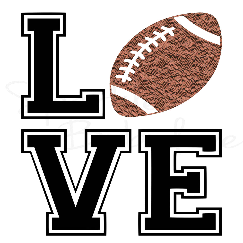 Love Footballl, Car Decal, Car Decal sticker, Yeti Decal, Tumbler Decal, Football  Decal, State Decal, HTV Iron On, Decal