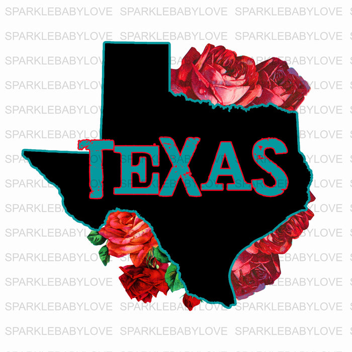 Texas DIY iron on, Floral Texas Decal, Ready to Press, Iron on Ready, htv printed, Thankful and blessed, Iron on Transfer Texas iron on