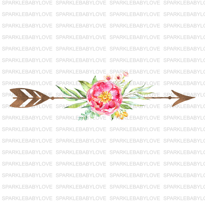 Floral Arrow Iron on, Watercolor Flower iron on, Sublimation transfer, Ready to Press, Iron on Ready, htv printed, Iron on, Iron on Transfer