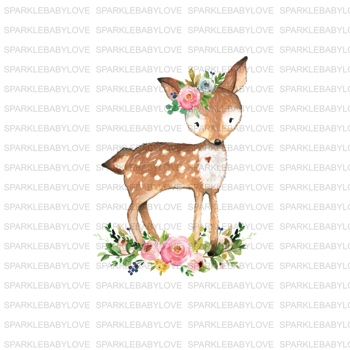 Deer Floral Iron on, DIY iron on,Sublimation transfer, Ready to Press, Iron on Ready, htv printed, Antler Iron on, Iron on Transfer