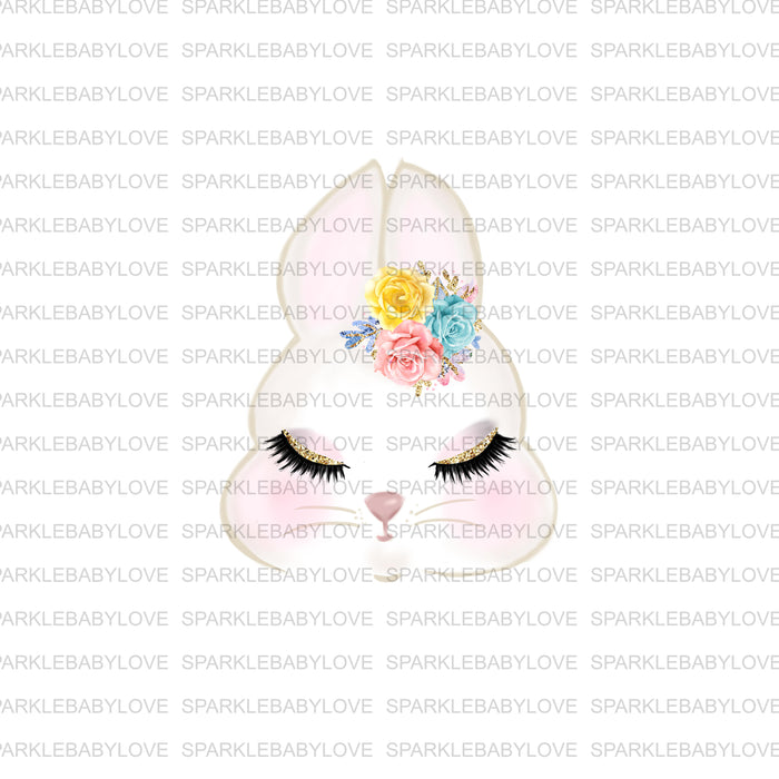 Bunny Floral Iron on, DIY iron on,Sublimation transfer, Ready to Press, Iron on Ready, htv printed, Antler Iron on, Iron on Transfer