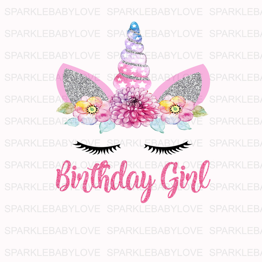Birthday Girl Unicorn Iron On Ready To Press Transfer, Unicorn Iron On Transfer Vinyl, Iron On Transfer, Big Sister Iron on, Unicorn HTV