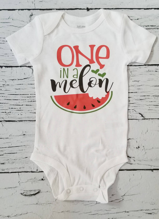 One in A Melon Birthday Outfit, First Birthday Outfit Girl, One year old girl birthday outfit, 1st birthday outfit girl, One in a Melon