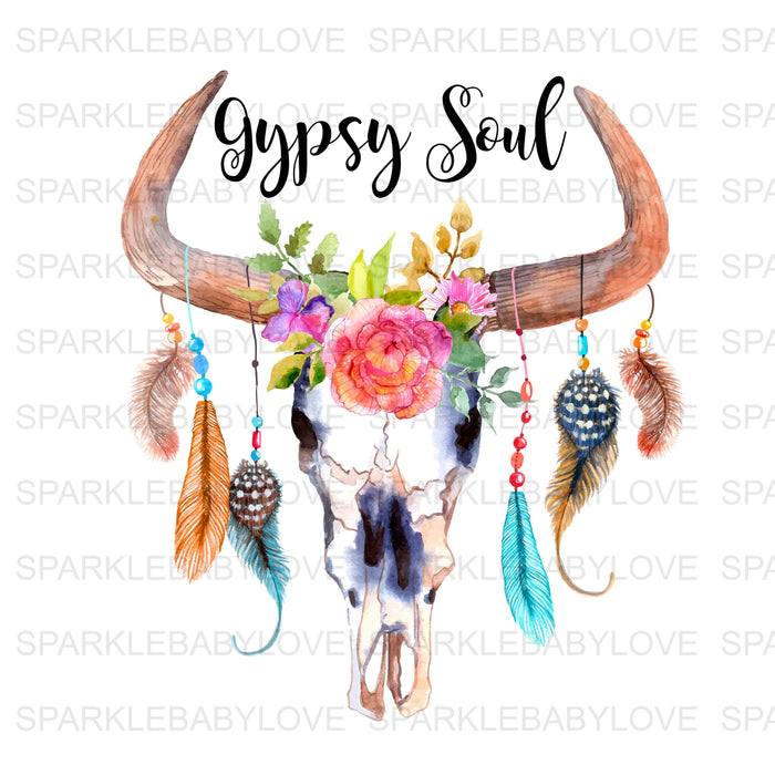 Gypsy Soul, DIY iron on,Sublimation transfer, Ready to Press, Iron on Ready, htv printed,Iron on Transfer