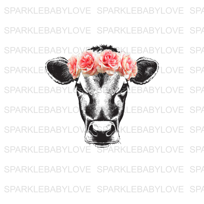 Cow Head Iron On Ready To Press Transfer, Baseball Mom design, Baseball Iron on, Sublimation Transfer