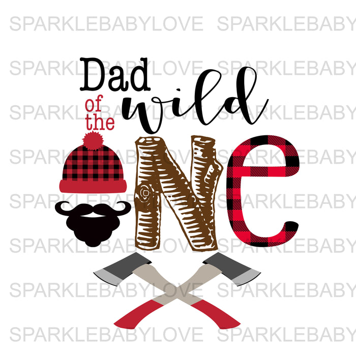 Dad of the wild one Lumberjack Birthday Iron On Ready To Press Transfer, Lumberjack One Heat Transfer Vinyl, Iron On Transfer, Happy Camper