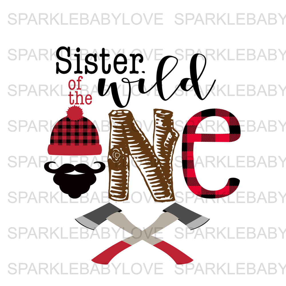 Sister of the wild one Lumberjack Birthday Iron On Ready To Press Transfer, Lumberjack One Heat Transfer Vinyl, Iron On Transfer