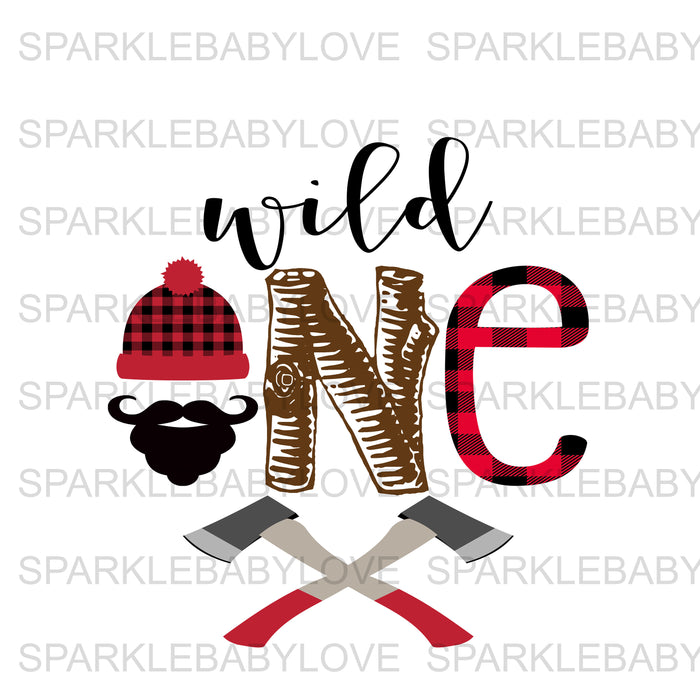 wild one Lumberjack Birthday Iron On Ready To Press Transfer, Lumberjack One Heat Transfer Vinyl, Iron On Transfer