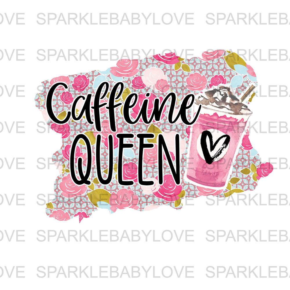 Caffeine Queen Iron On Ready To Press Transfer, Camper Iron on, Sublimation Transfer
