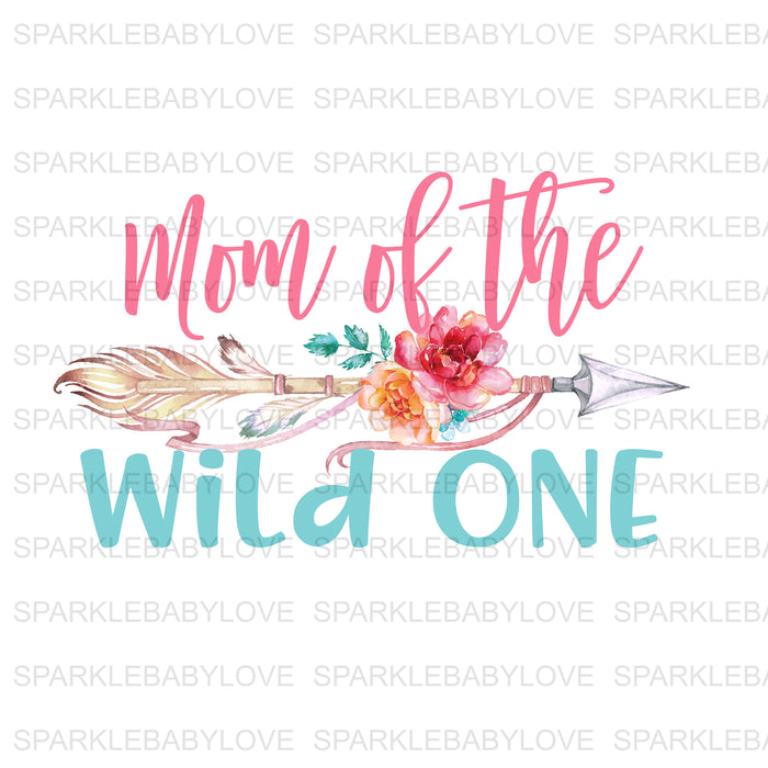 Mom of the wild one  Birthday Iron On Ready To Press Transfer, Lumberjack One Heat Transfer Vinyl, Iron On Transfer
