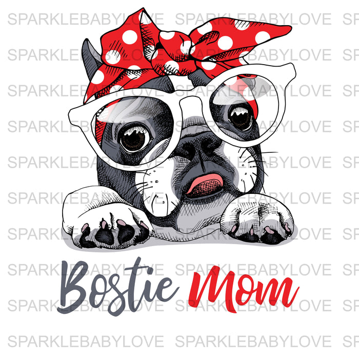 Bostie Mom French Bulldog Ready to press DIY iron on, Sublimation transfer, Ready to Press, Iron on Ready, htv printed,  Iron on Transfer