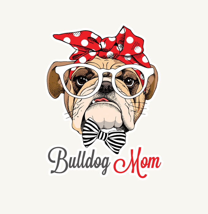 Bulldog Mom Decal, Car Decal, Yeti Decal, Tumbler Decal, Cactus car Decal, Cactus laptop decal, mug decal,Bulldog mom yeti decal