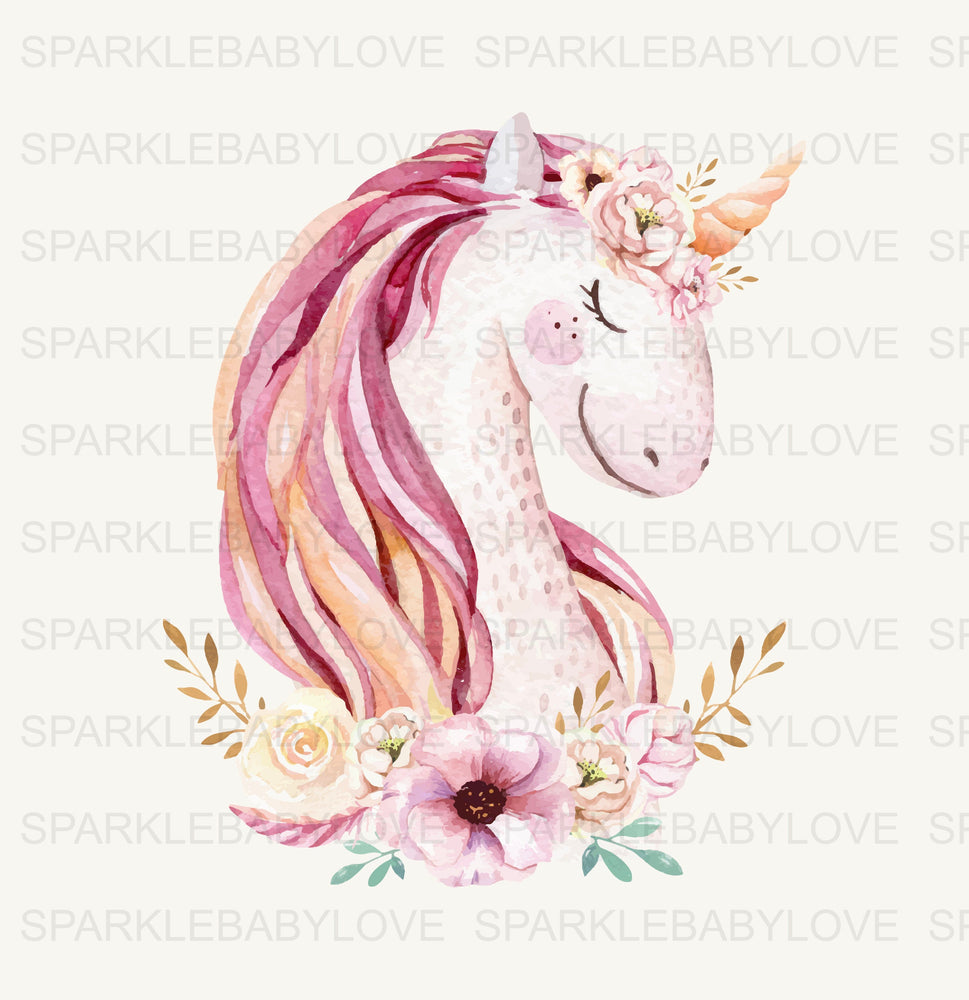 Unicorn Iron On Ready To Press Transfer, Unicorn Iron On Transfer Vinyl, Iron On Transfer, Birthday Unicorn Iron on, Unicorn HTV
