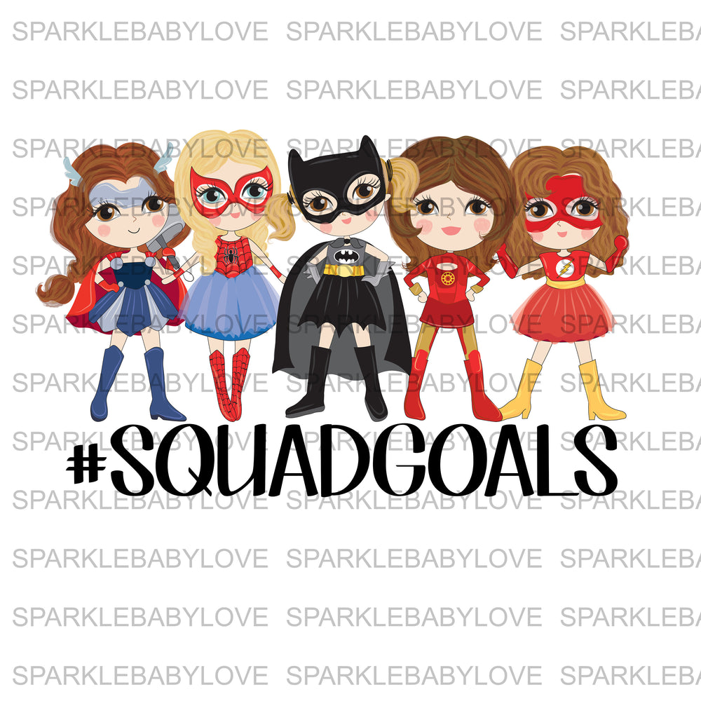 SquadGoals On Ready To Press Transfer,  Iron On Transfer Vinyl, Iron On Transfers, Superheroes Iron on