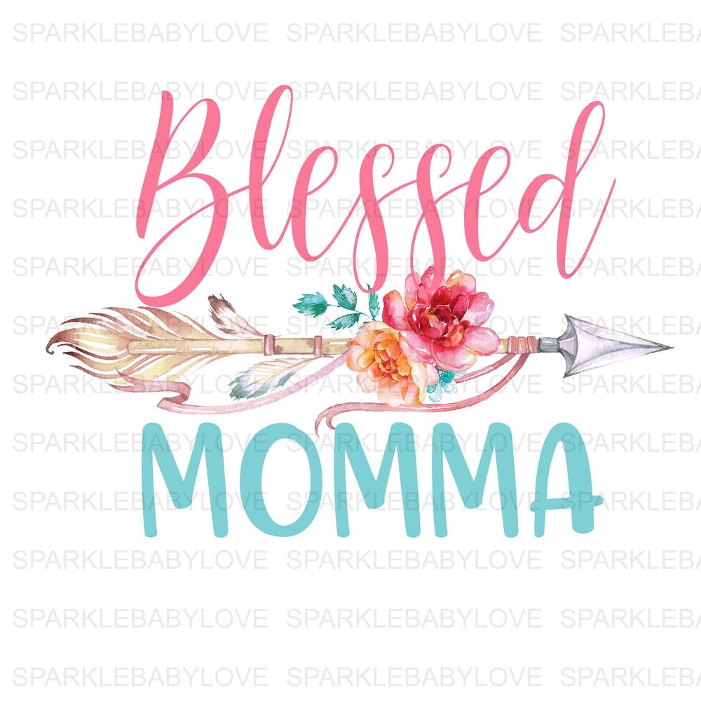 Blessed Momma Decal, Blessed Mom Mug Decal, Blessed Momma Yeti Decal Car Decal, Yeti Decal, Tumbler Decal, Camper Decal,