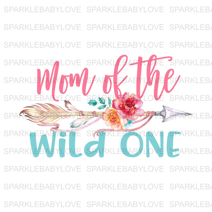 Mom of the wild one  Birthday Iron On Ready To Press Transfer, Wild One Heat Transfer Vinyl, Iron On Transfer