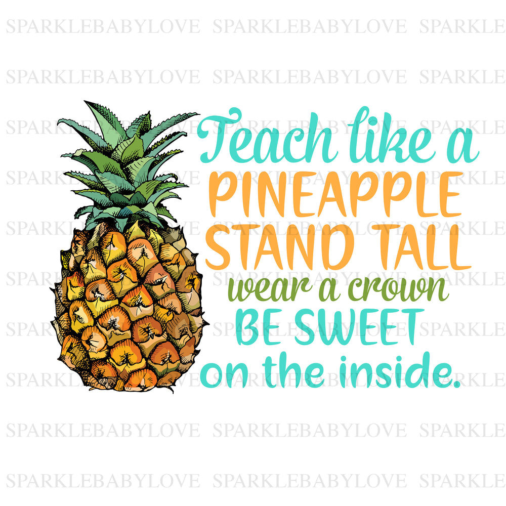 Teach like a pineapple, DIY iron on,Sublimation transfer, Ready to Press, Iron on Ready, htv printed, Thankful and blessed, Iron on Transfer