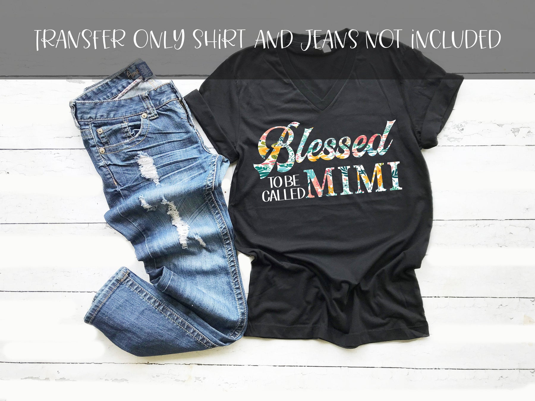 Blessed to be called mimi, Thanksgiving DIY iron on, Fall image transfer, Ready to Press, Iron on Ready, Thankful and blessed, blessed mimi