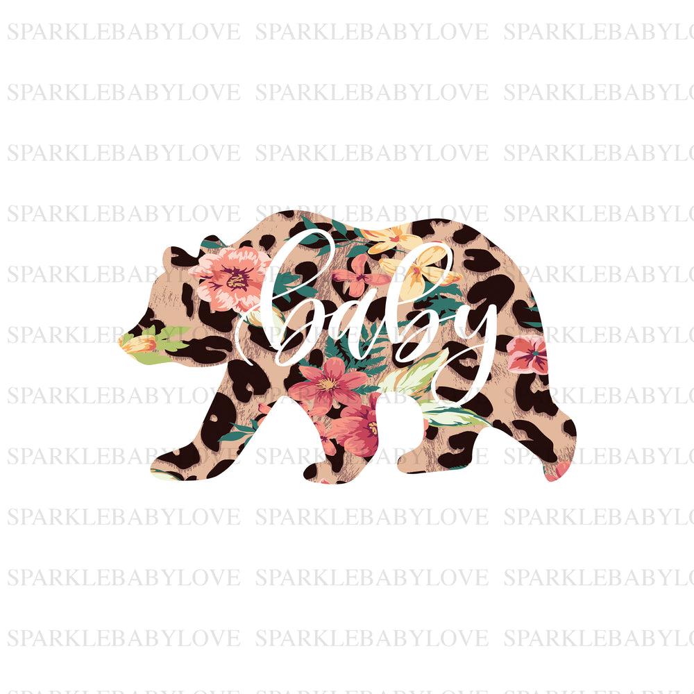 Baby Bear leopard iron on, baby bear sublimation transferIron On Ready To Press Transfer Christmas design, Christmas Design