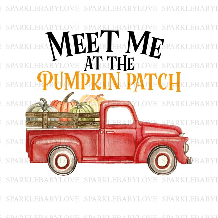meet me at the pumpkin patch Fall Truck sublimation transfer, Fall image transfer, Ready to Press, Iron on Ready, Iron on Transfer