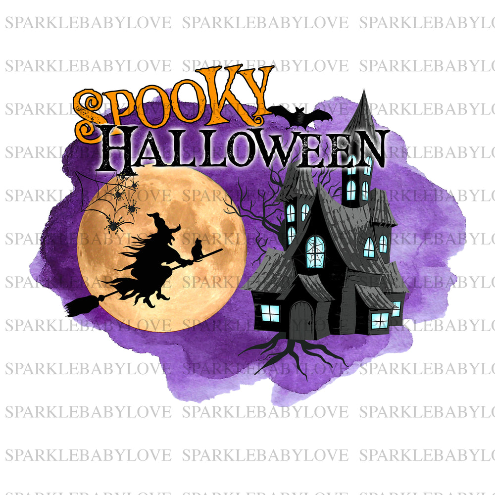 Spooky Halloween Sublimation transfer, Halloween sublimation transfer, halloween iron On Ready To Press Transfer  Iron on