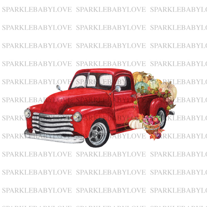 Fall Truck iron on, DIY iron on, Fall image transfer, Ready to Press, Iron on Ready, htv printed, Iron on Transfer
