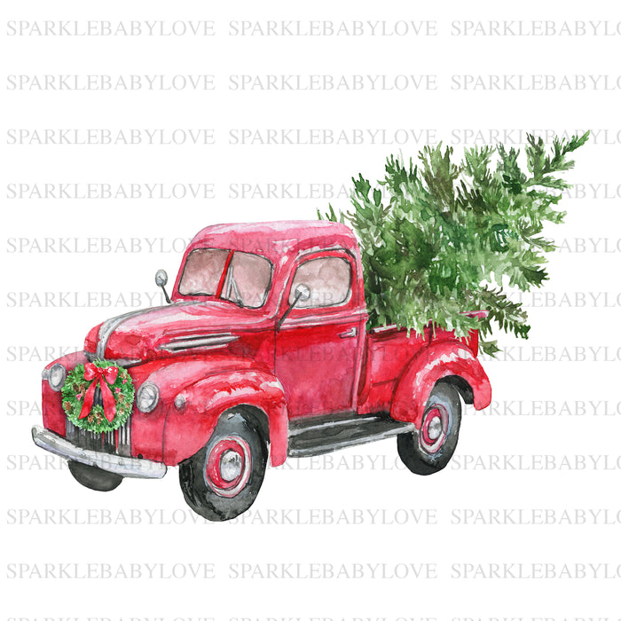 Merry Christmas truck Decal, Car Decal, Yeti Decal, Tumbler Decal, Christmas truck Decal, Red truck decal, Christmas truck