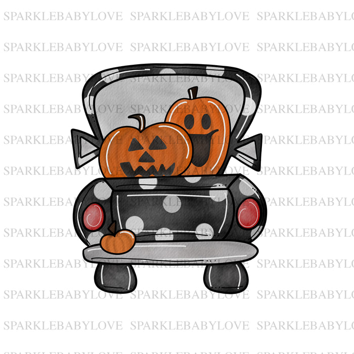 Halloween truck sublimation transfer, Halloween truck printed vinyl, Halloween iron on, sublimation transfer ready to press