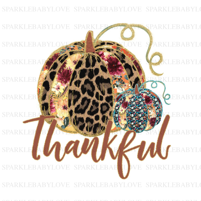 Thankful Pumpkin, Thanksgiving DIY iron on, Fall image transfer, Ready to Press, Iron on Ready, Thankful and blessed, Iron on Transfer