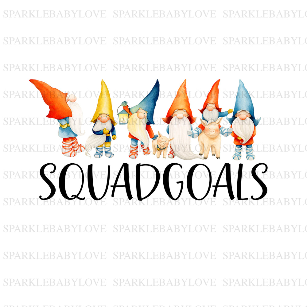 Squadgoals Christmas gnomes iron on, Christmas Holiday Iron On Ready To Press Transfer Christmas design, Gnomes sublimation transfer