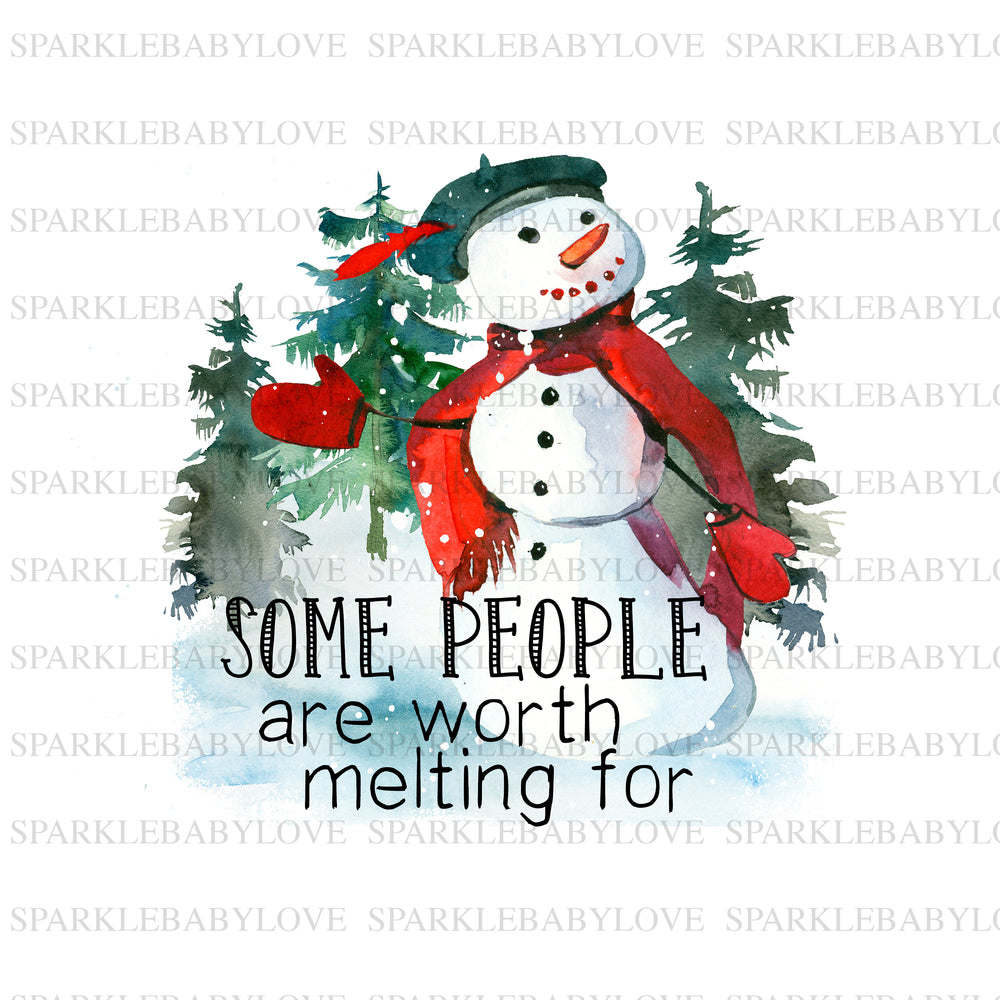 Some people are worth melting for Merry Christmas TreeHoliday Iron On Ready To Press Transfer Christmas design, Merry Christmas Iron on,