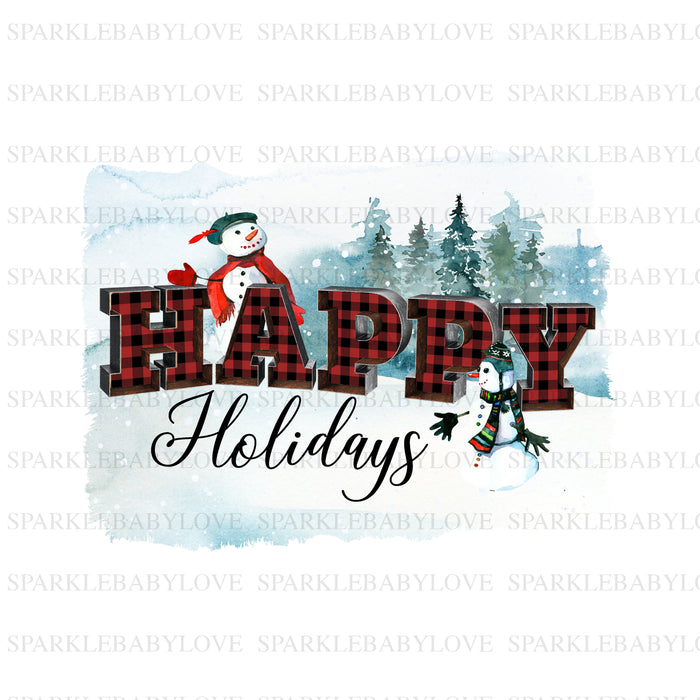 Happy holidays Christmas Holiday Iron On Ready To Press Transfer Christmas design, Merry Christmas Iron on,