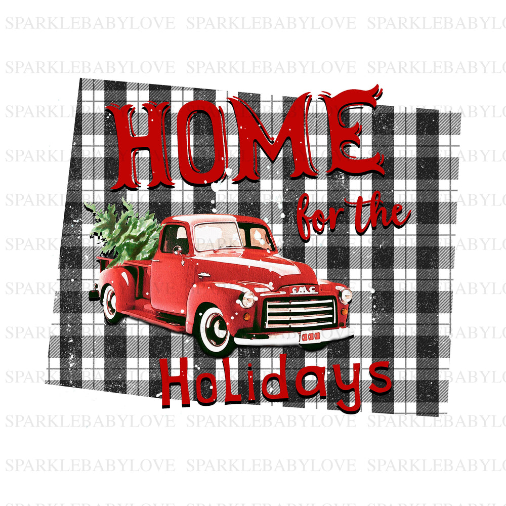 Merry Christmas Tree Truck Holiday Iron On Ready To Press Transfer Christmas design, Merry Christmas Iron on, Christmas Tree Truck