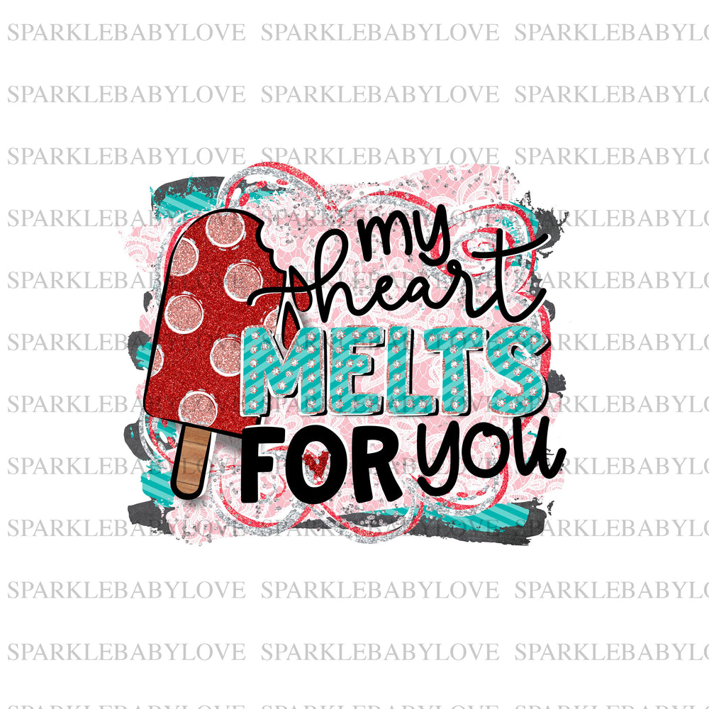 My heart melts for you Sublimation Transfer, Valentine Iron On Ready To Press Transfer Valentine Sublimation transfer, Sublimation Transfer