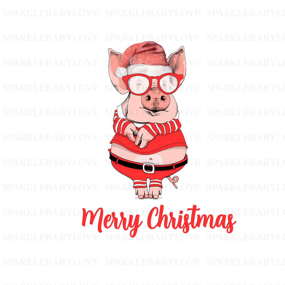 Pig merry Christmas Holiday Iron On Ready To Press Transfer Christmas design, Merry Christmas Iron on, Christmas Tree Truck