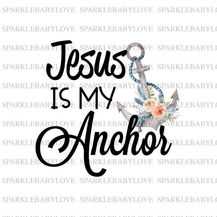 Jesus is my anchor iron on, Easter Sublimation transfer,  Easter iron On Ready To Press Transfer, Iron on patch, Sublimation Transfer