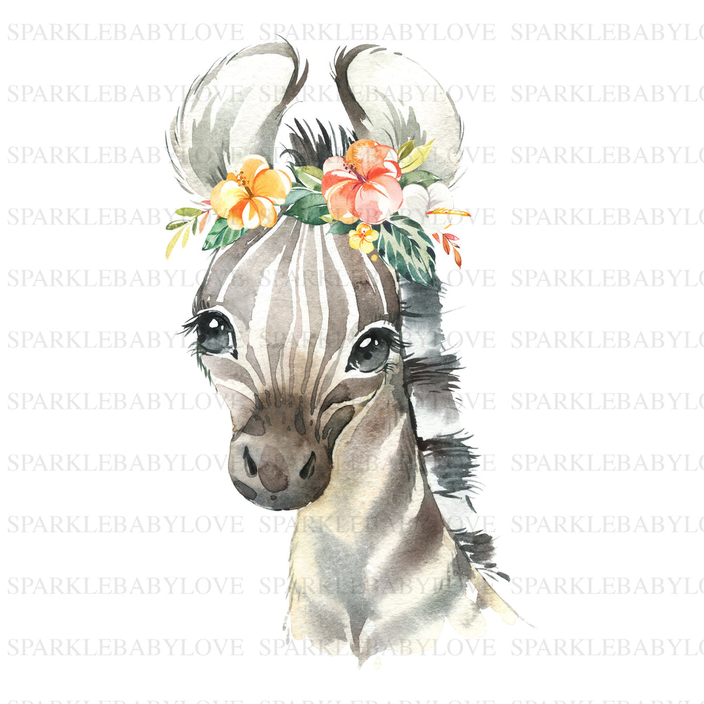 Zebra iron on animal Iron On Ready To Press Transfer, Boho animal Iron On Transfer Vinyl, Iron On Transfer, Big Sister Iron on, Unicorn HTV