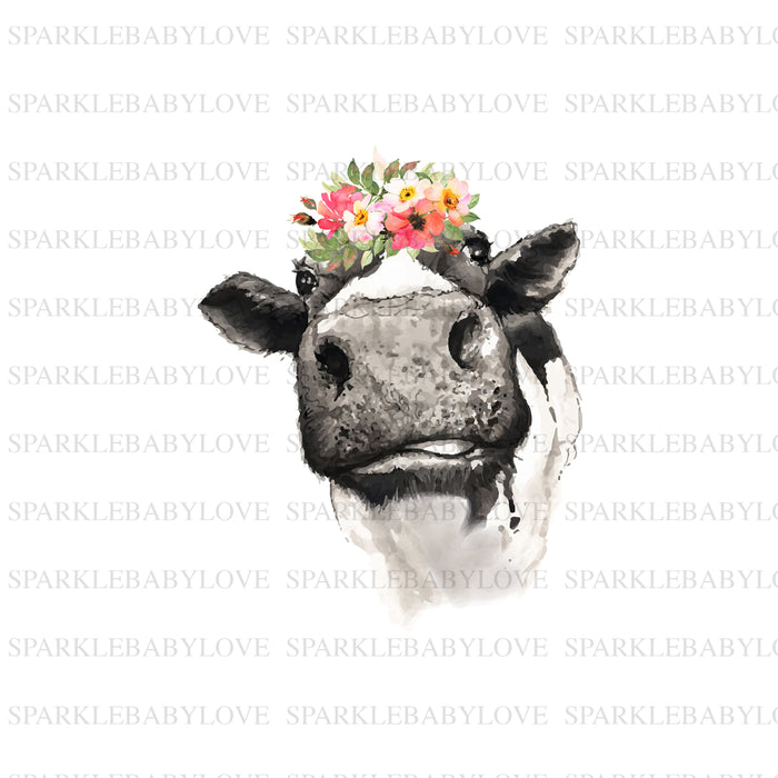 Cow with Flower Decal, Car Decal, Yeti Decal, Tumbler Decal,Bull Skull DecalSteer Feather Decal, cow skull
