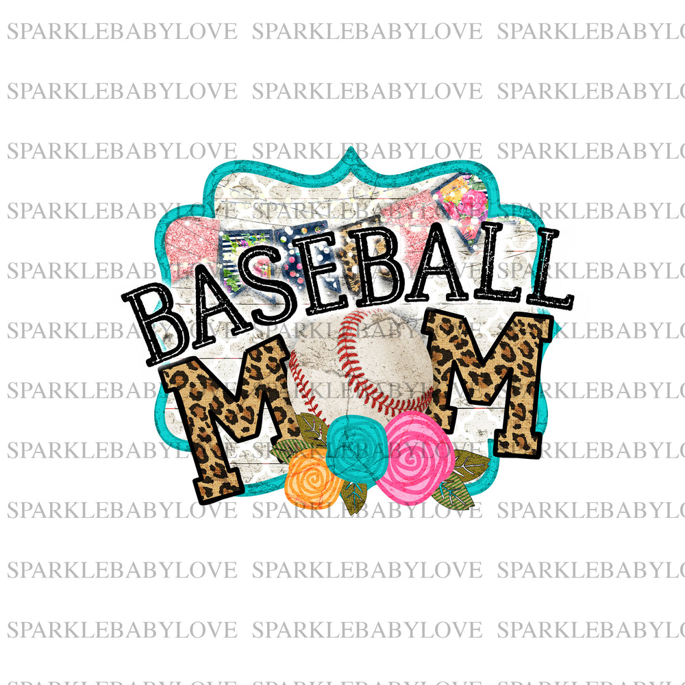 Baseball Mom Iron On Ready To Press Transfer, Baseball Mom design, Baseball Iron on, Sublimation Transfer