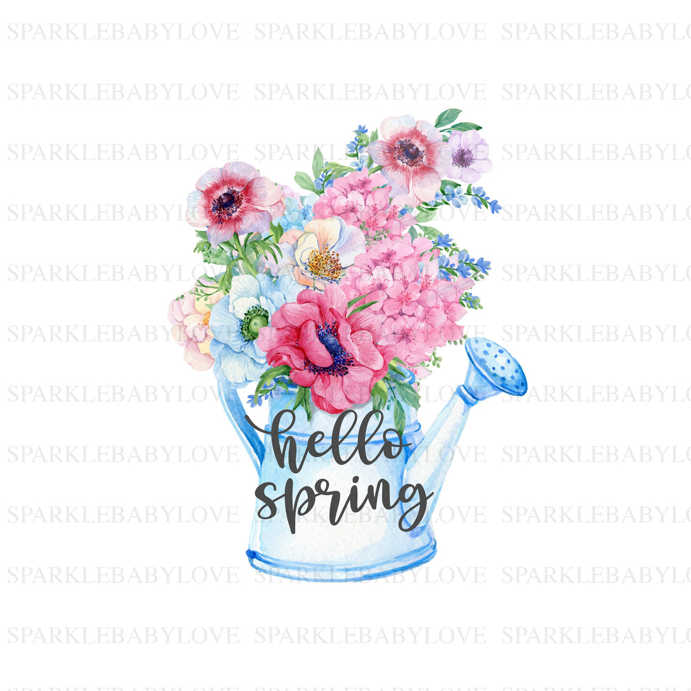 Hello Spring, DIY iron on,Sublimation transfer, Ready to Press, Iron on Ready, htv printed,  Iron on Transfer