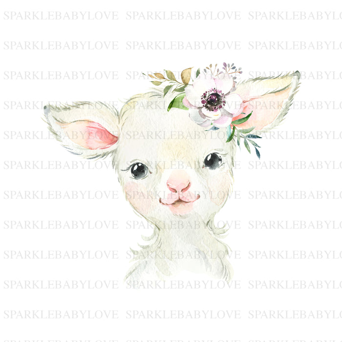 Boho Lamb Iron On Ready To Press Transfer design, Sublimation Design, Sublimation Transfer, Sublimation, Heat transfer Vinyl, Iron on