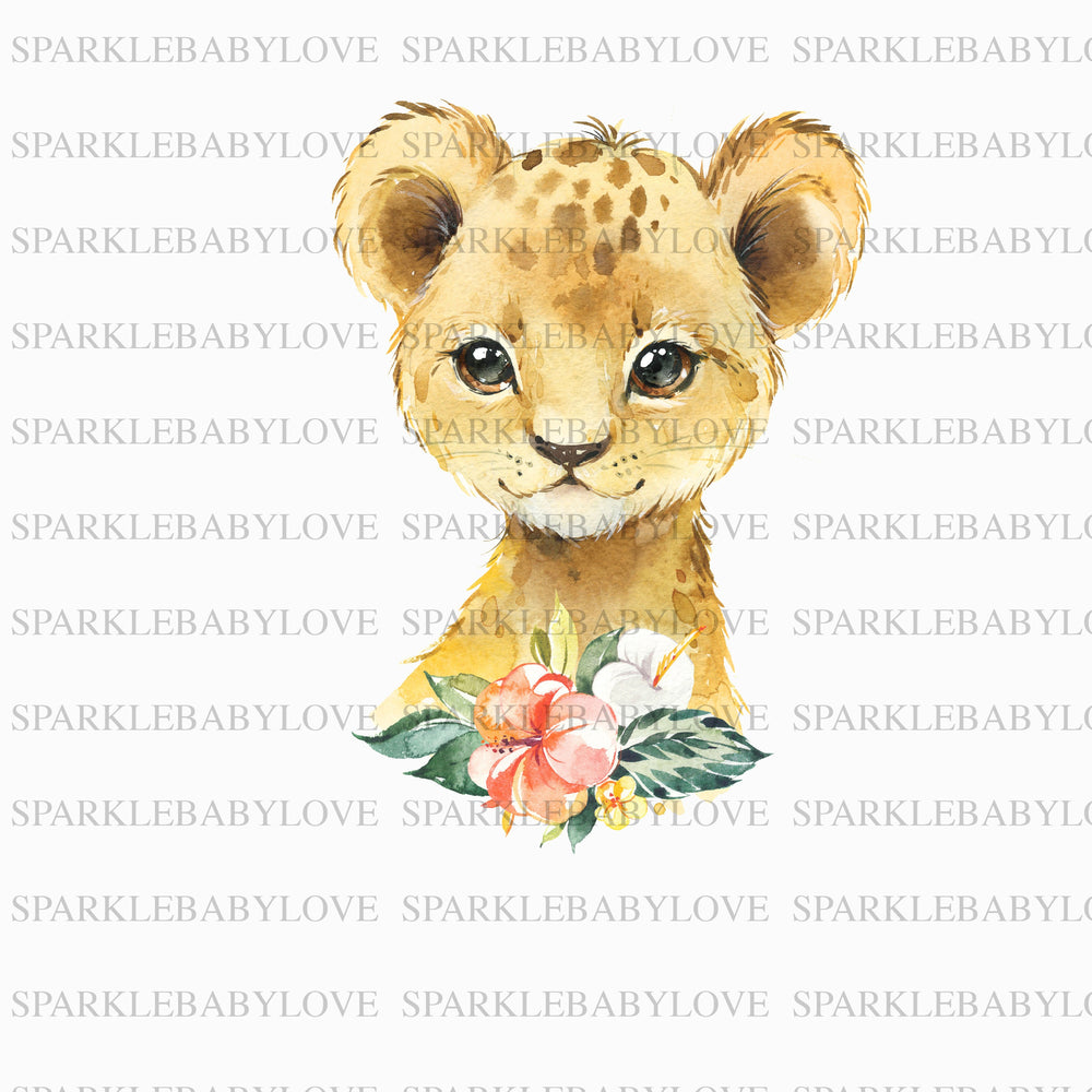Floral lion Iron On Ready To Press Transfer design, Sublimation Design, Sublimation Transfer, Sublimation, Heat transfer Vinyl, Iron on