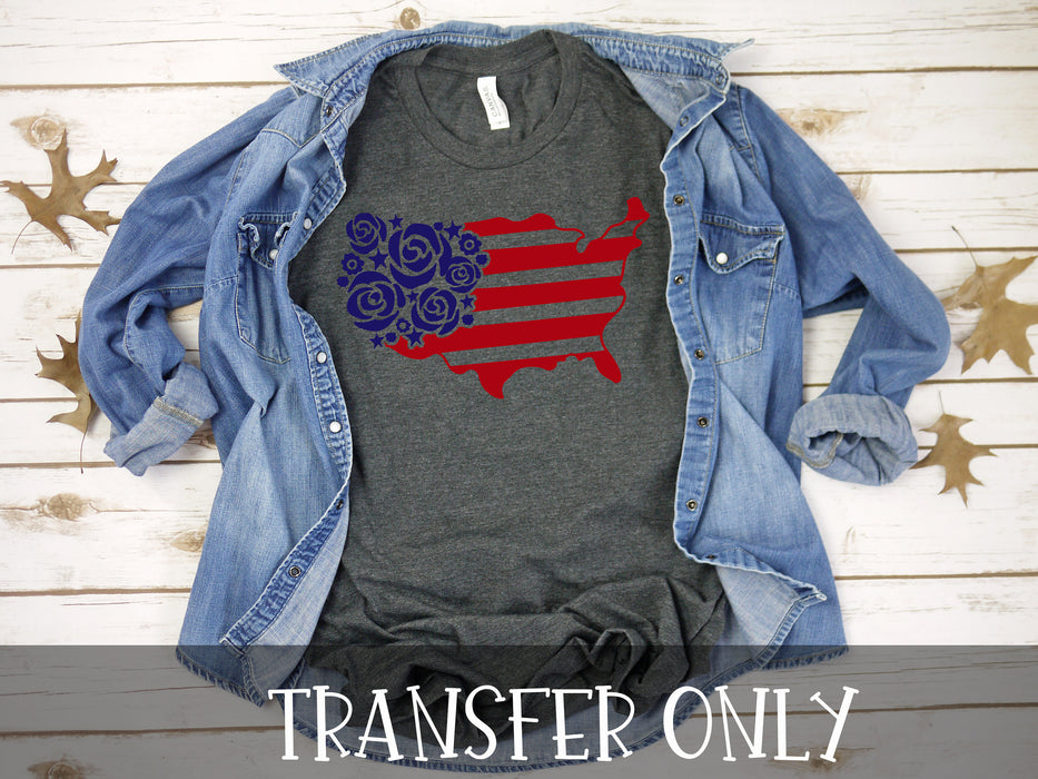 America Patriotic 4th of July  Ready to press DIY iron on, Sublimation transfer, Ready to Press, Iron on Ready, htv printed,  Iron on