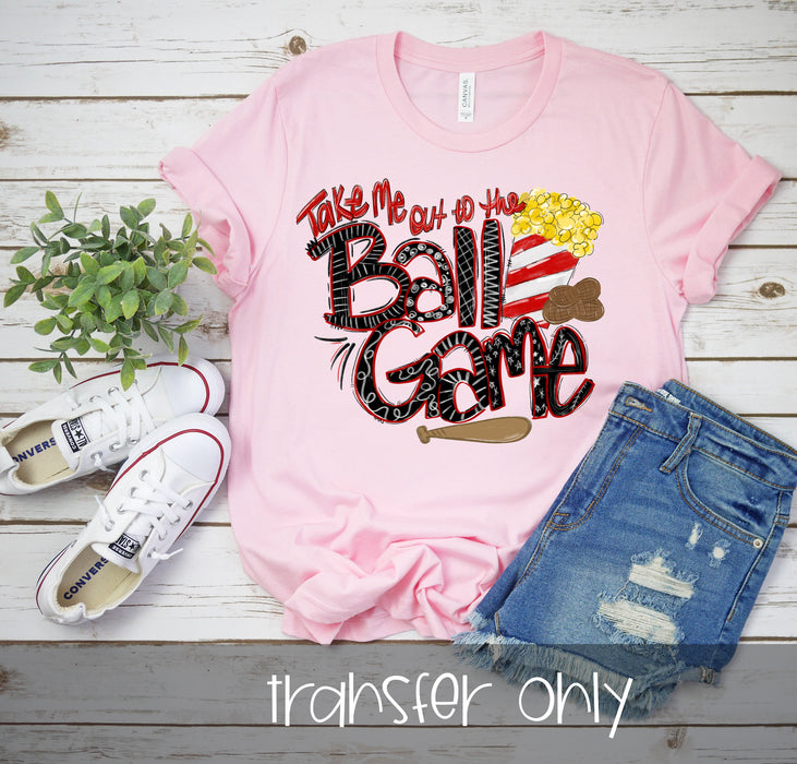 Take me out to the ball game iron on,Baseball Mom Iron On Ready To Press Transfer, Baseball Mom design, Baseball Sublimation Transfer