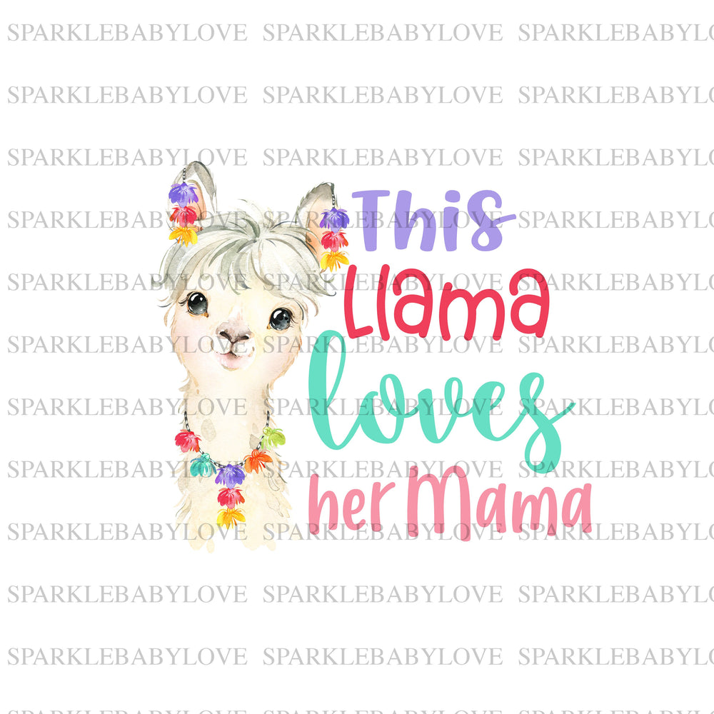 This Llama loves her mama Iron On Ready To Press Transfer, Boho animal Iron On Transfer Vinyl, Iron On Transfer, Llama sublimation