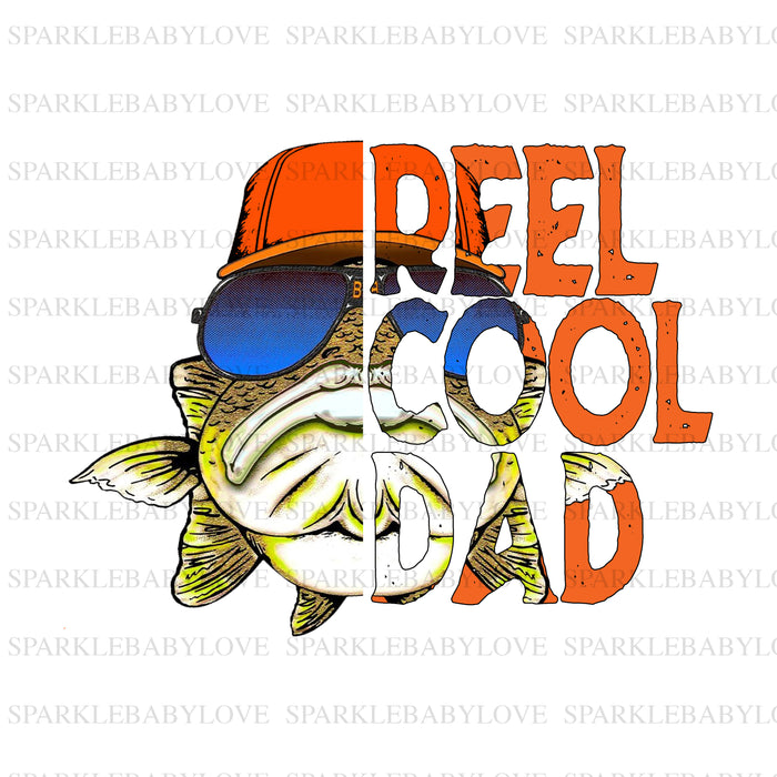 Reel cool Dad htv ready to press, Sublimation transfer, Ready to Press, Iron on Ready, htv printed,  Iron on Transfer