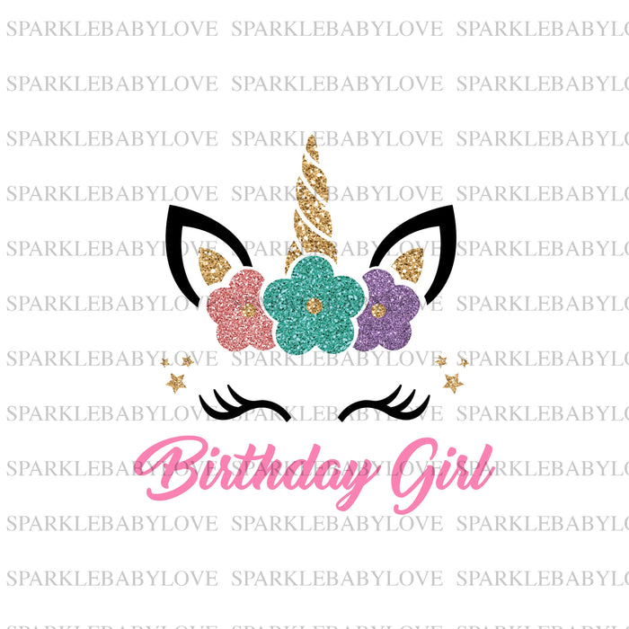 Birthday Girl Unicorn Iron On Ready To Press Transfer, Unicorn Iron On Transfer Vinyl,Iron On Transfer, Unicorn Iron on, Unicorn HTV
