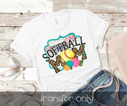 Softball Mom Iron On Ready To Press Transfer, Baseball Mom design, Baseball Iron on, Sublimation Transfer