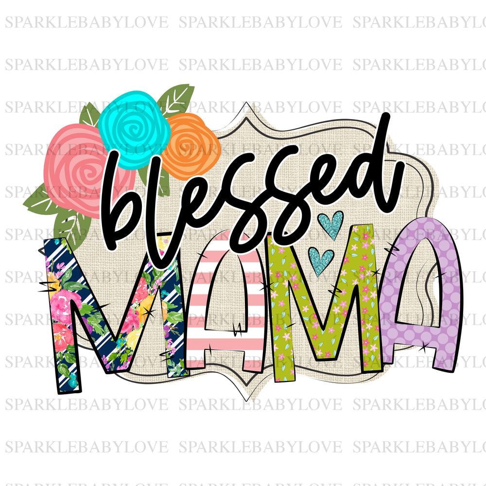 Blessed Mama Serape cactus sublimation transfer, Thanksgiving DIY iron on, Fall image transfer, Ready to Press, Thankful and blessed