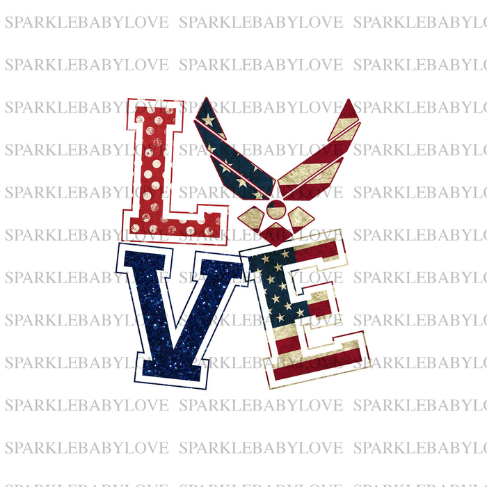 Love Air force  Fourth of july Ready to press DIY iron on, Sublimation transfer, Ready to Press, Iron on Ready,  Iron on Transfer